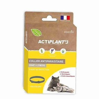 Collier antiparasitaire Actiplant'3 chats Gris