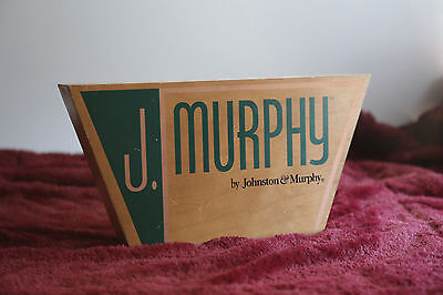 Johnston & Murphy Shoes Wooden Double Sided Advertising Counter Display