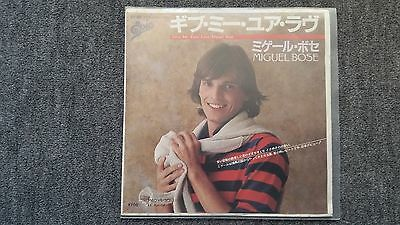 Miguel Bose - Give me your love 7'' Single JAPAN