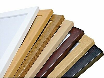 Modern Style Flat Wood Finish Photo Picture Poster Frames Various Sizes , Colors