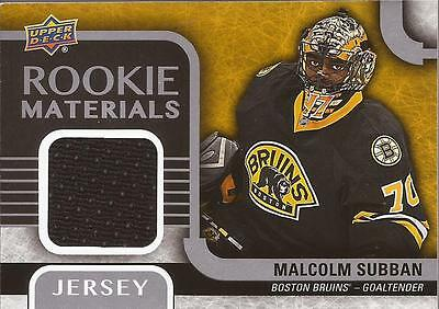 MALCOLM SUBBAN 2015-16 Upper Deck Series 2 Rookie Materials Jersey Boston Bruins