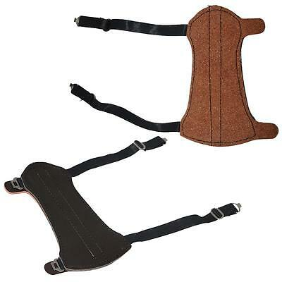 Traditional Leather Archery Arm Guard Hunting Target Accessories Brown Armband