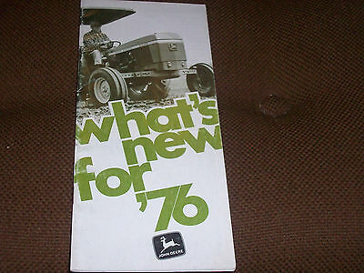John Deere New For 1976 Tractor & Machinery Brochure 2640 2040 2240 2440