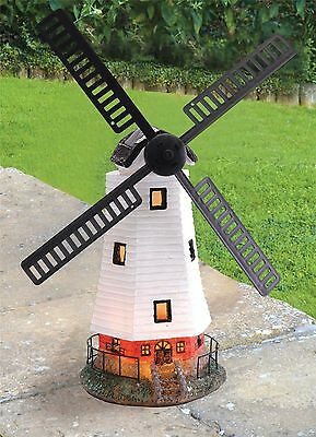 Solar Powered Light Up Traditional Garden Windmill Decorative Ornament Wind Mill
