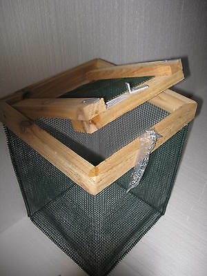 """12 in. Best Floating Live Minnow or Pan Fish Basket with 1/4"""" vinyl coated wire"""