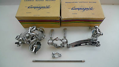 Vintage NOS 70's Campagnolo Nuovo Record derailleur/shifter set MINT BOXED