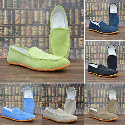 New Mens Genuine Leather Suede Moccasin Slippers Soft House Shoes Sizes Fashion