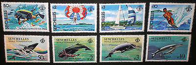 Seychelles 1984 MNH** two complete set - sport / whales - vf conditions