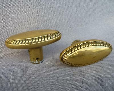 Antique french pair of door handles mid-1900's made of brass