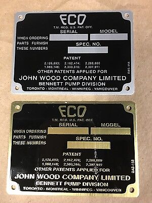 Eco air meter I.D. Tag (Brass)