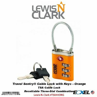 Lewis N. Clark #TSA44ONG Travel Sentry® Cable Lock with Keys, Orange