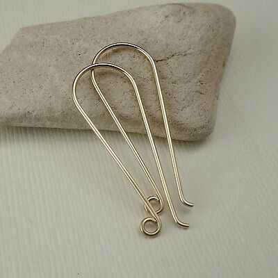 Gold Filled Earring Hooks - French Ear Hooks - Long Earring Wires - DIY Supply