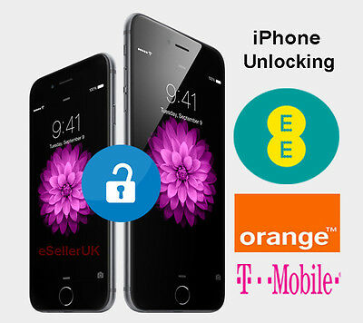 UK iPhone 6 6s & 6s Plus Permanent Factory Unlocking Service For EE T-mobile