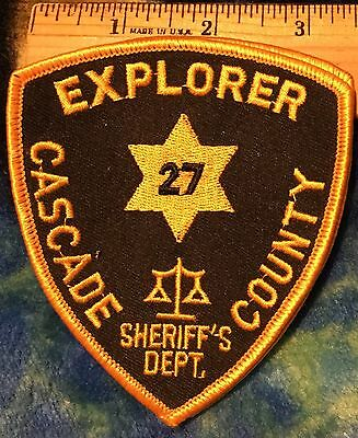 Explorer Cascade County Sheriff's Dept. patch