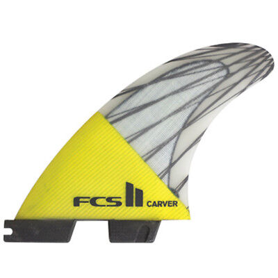 Fcs II Carver PC Carbon Tri Surfboard Fins Large New & Genuine From FCS 2 Surf