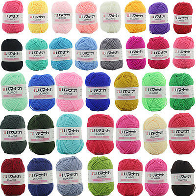 Wholesale 42 colors Crochet hand Knitting Wool Soft Bamboo Cotton Baby Yarn 4Ply