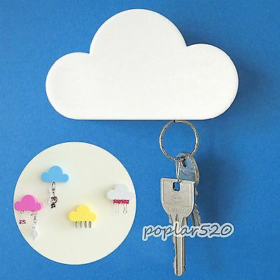 1PC Lovely Cloud Shape Magnetic Key Hook Wall Hangers Holder Handy Home Decor