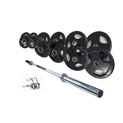 Olympic Rubber Coated Weight Set 100kg