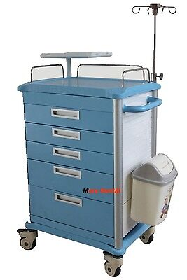 Dental Lap Medical Emergency Rolling Trolley Movable Operating Room Trolley New