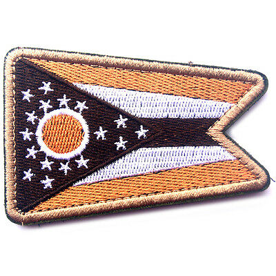 USA Ohio FLAG OH STATE FLAG U.S. ARMY MORALE BADGE TACTICAL HOOK LOOP PATCH #1