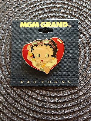 Vintage Betty Boop Pinback Pin Button Mgm Grand Las Vegas Collectible New