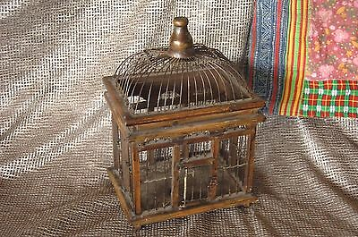 Old Chinese Handmade Wood & Wire Birdcage …beautiful display piece