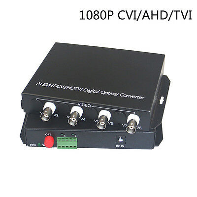 HD CCTV 1080P CVI AHD TVI 4CH Video Fiber Optical Media Converter with RS485Data