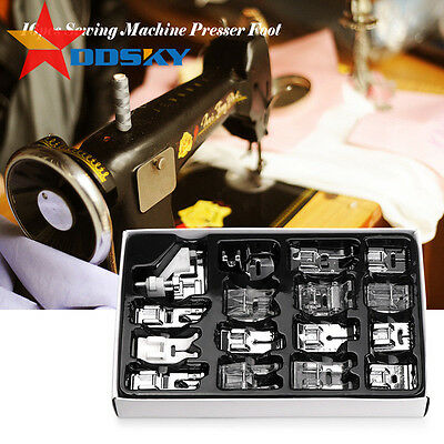 8-42pcs Domestic Sewing Machine Presser Foot Feet Set for Singer Janome Brother