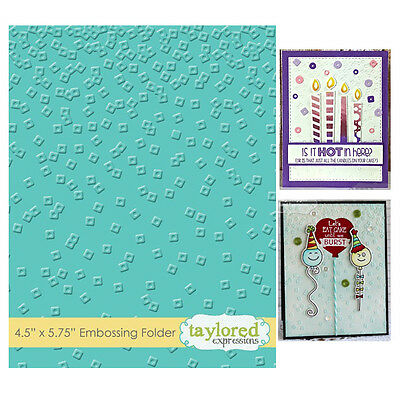 Taylored Expressions Embossing Folder - Confetti - TEEF42
