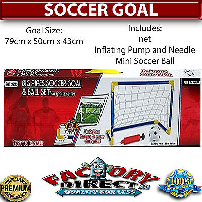 Kids Indoor Outdoor Mini Sports Beach Portable Soccer Goal Football Toy Training