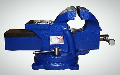 Jaw Clamp Swivel Base Bench Vice Vise 4 Inch 100mm Workbench Table Blue New