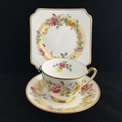 ROYAL DOULTON BONE CHINA 1930's ROSAMUND cup saucer and plate TRIO