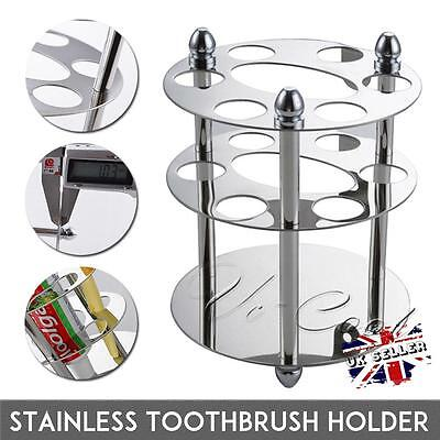 UK New Stainless Steel Toothbrush & Toothpaste Screw Cup Holder Bathroom Storage