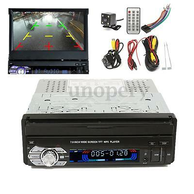 UK GPS 7'' Autoradio Touch Screen CD/MP3/MP5 Bluetooth+Telecamera Retromarcia