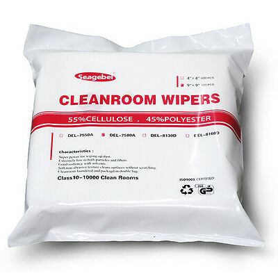 "CLEANING CLOTHS ESD Wipers Multicomp 9"" X 9"" X 150 Sheets CLEANROOM WIPERS CLOTH"