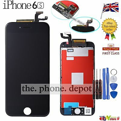 For Black iPhone 6S LCD Screen Replacement Touch Display Digitizer Glass Lens UK