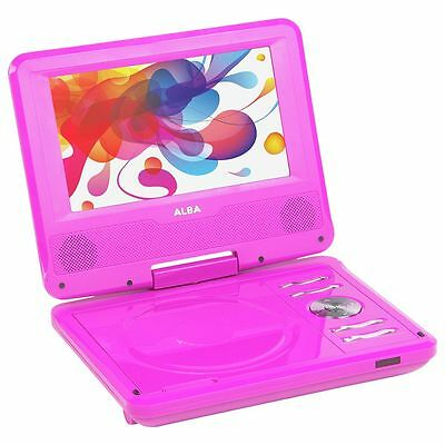 Alba 7 Inch Portable DVD Player - Pink - Free 90 Day Guarantee