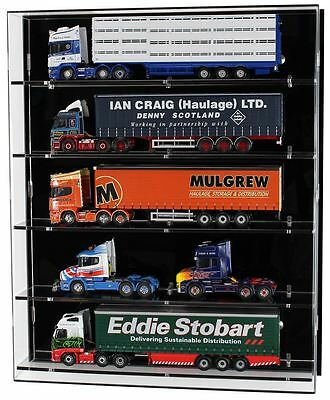 Acrylic Model Wall Display Case for 1:50 Scale Model Trucks - 5 Shelves