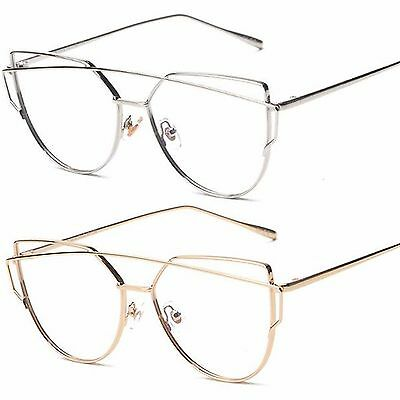 Quality Metal Frame Clear Lens Popular Fashion Womens Glasses
