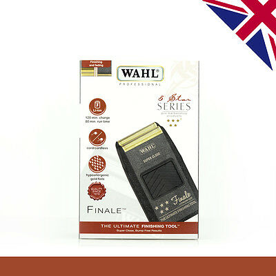 Wahl Finale Shaver, 5 Star 8164, Lithium Ion, UK Voltage with UK 3 Pin Plug, New