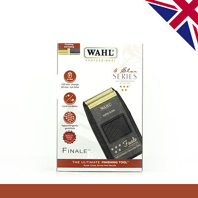 Wahl Finale Shaver | 5 Star 8164Lithium Ion | UK Voltage | UK 3 Pin Plug