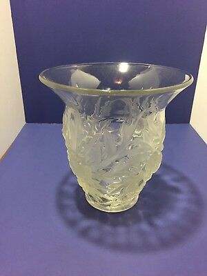 Vintage Verlys Large Crystal Vase ( Alpine Thistle Design )