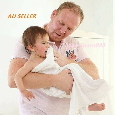 100% Cotton Baby Kids Soft Gauze Bath Towels 6 Layer Swaddle Wrap Blankets
