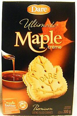 DARE ULTIMATE MAPLE CREME FILLED COOKIES - REAL MAPLE SYRUP - 300 grams