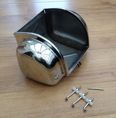 Lambretta Li Gp Sx Tv Stainless Steel Toolbox Glovebox & Fixing Kit.brand New