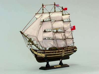 """Wooden Master And Commander HMS Surprise Tall Model Ship 14"""""""