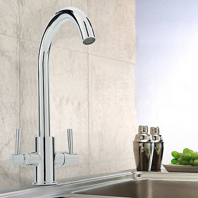 Mono Lever Pull-Down Sprayer Kitchen Sink Mixer Pull Out Spout Swivel Tap Faucet