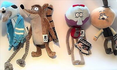 Regular Show Soft Plush Toys - Rigby, Benson, Mordecai, & Pops