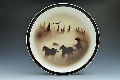 "Wild Horses Big Sky Carvers Thomas Norby 10.75"" Dinner Plate (s)"