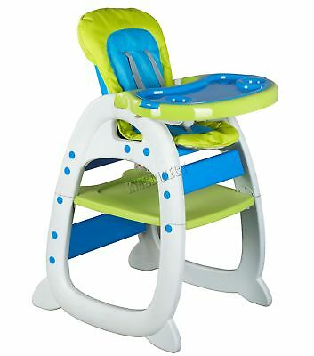 FoxHunter Baby Highchair Infant High Feeding Seat 3in1 Toddler Table Chair Green
